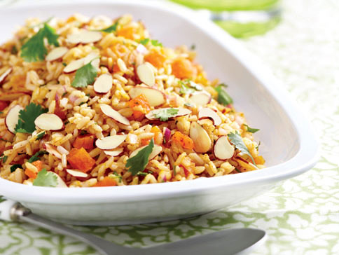 Brown Rice Salad with Fresh & Dried Apricots