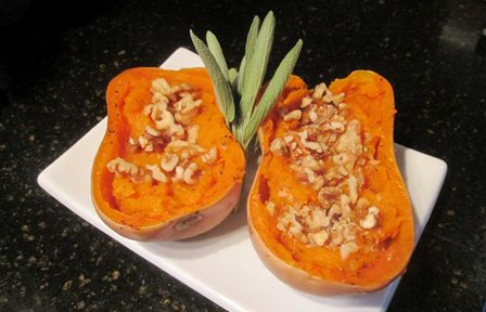 Butternut Squash With Walnuts