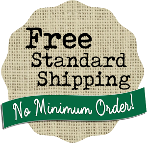 Free Standard Shipping. No Minimum Order.