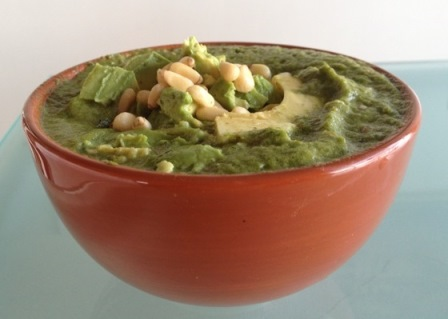 Avocado Soup with Macadamias