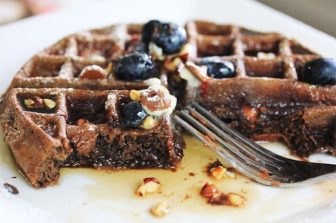 Chocolate Nut Waffles
