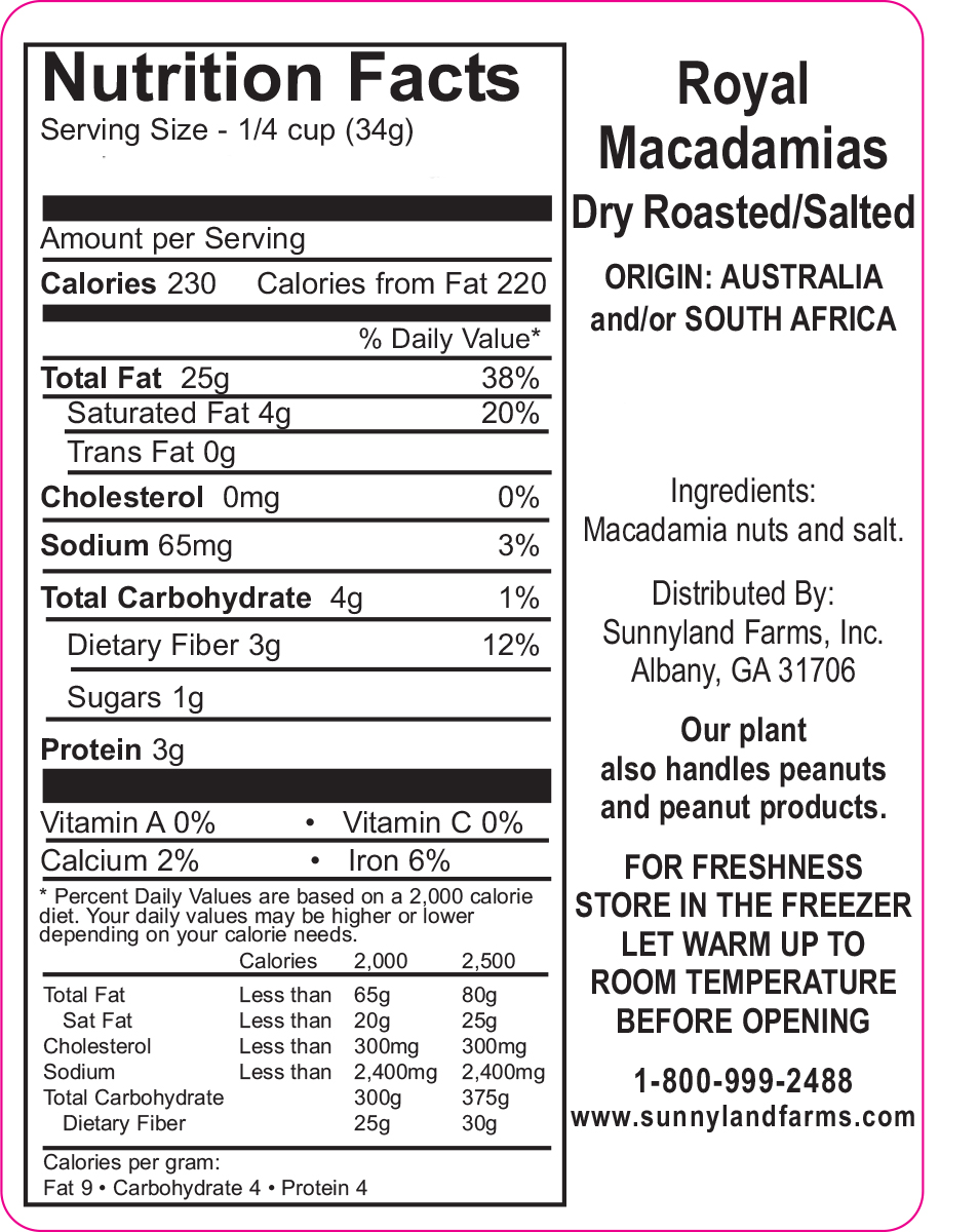 Macadamia Nut Nutrition Facts