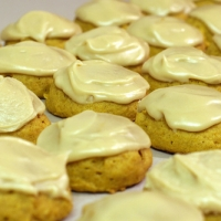 Pumpkin Spice Cookies With Lemon Icing