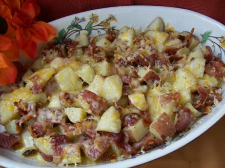 Roasted Red Potatoes With Cheese & Pecans