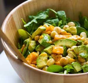 Arugula Mango Avo Mac Salad