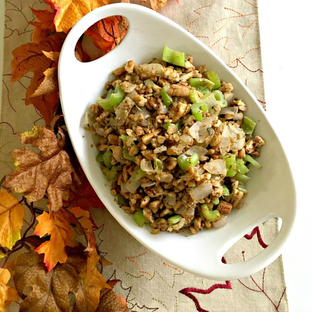 Holiday Side Dishes - Low Carb Pecan Stuffing