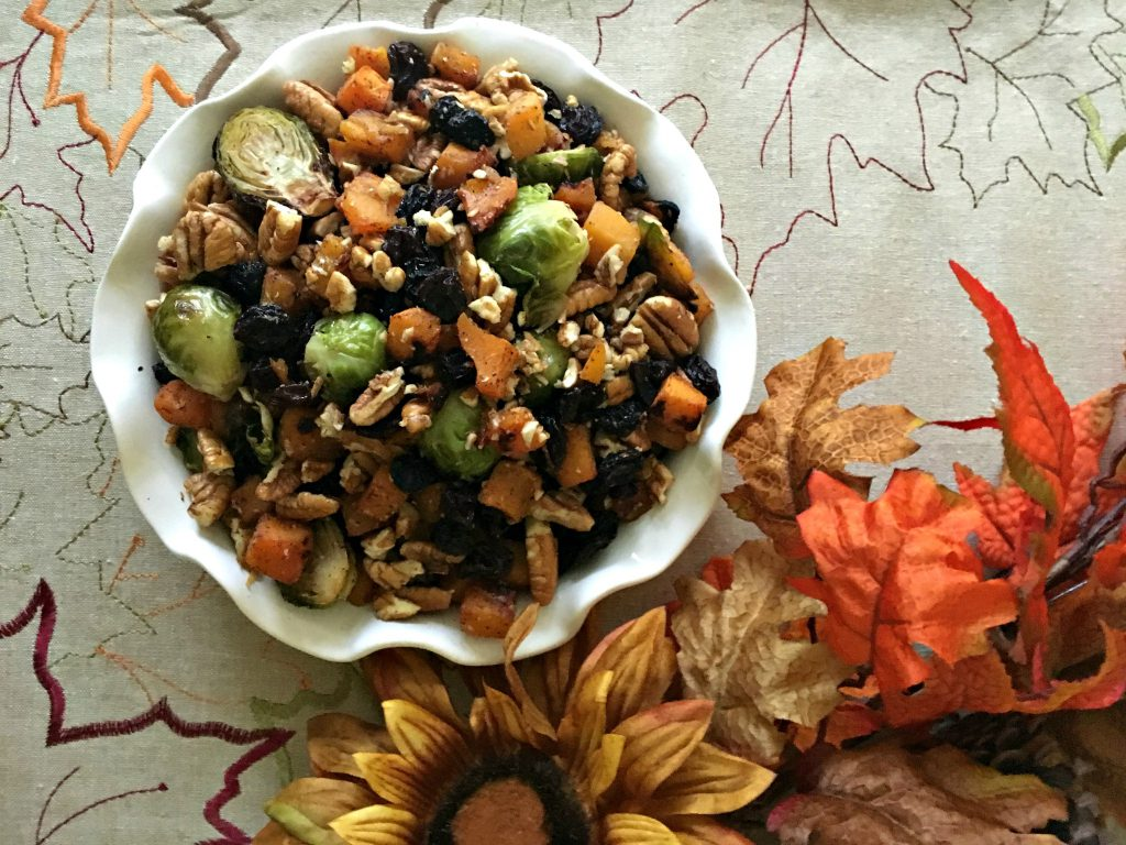 Holiday Side Dishes - Brussels Sprout Butternut Squash
