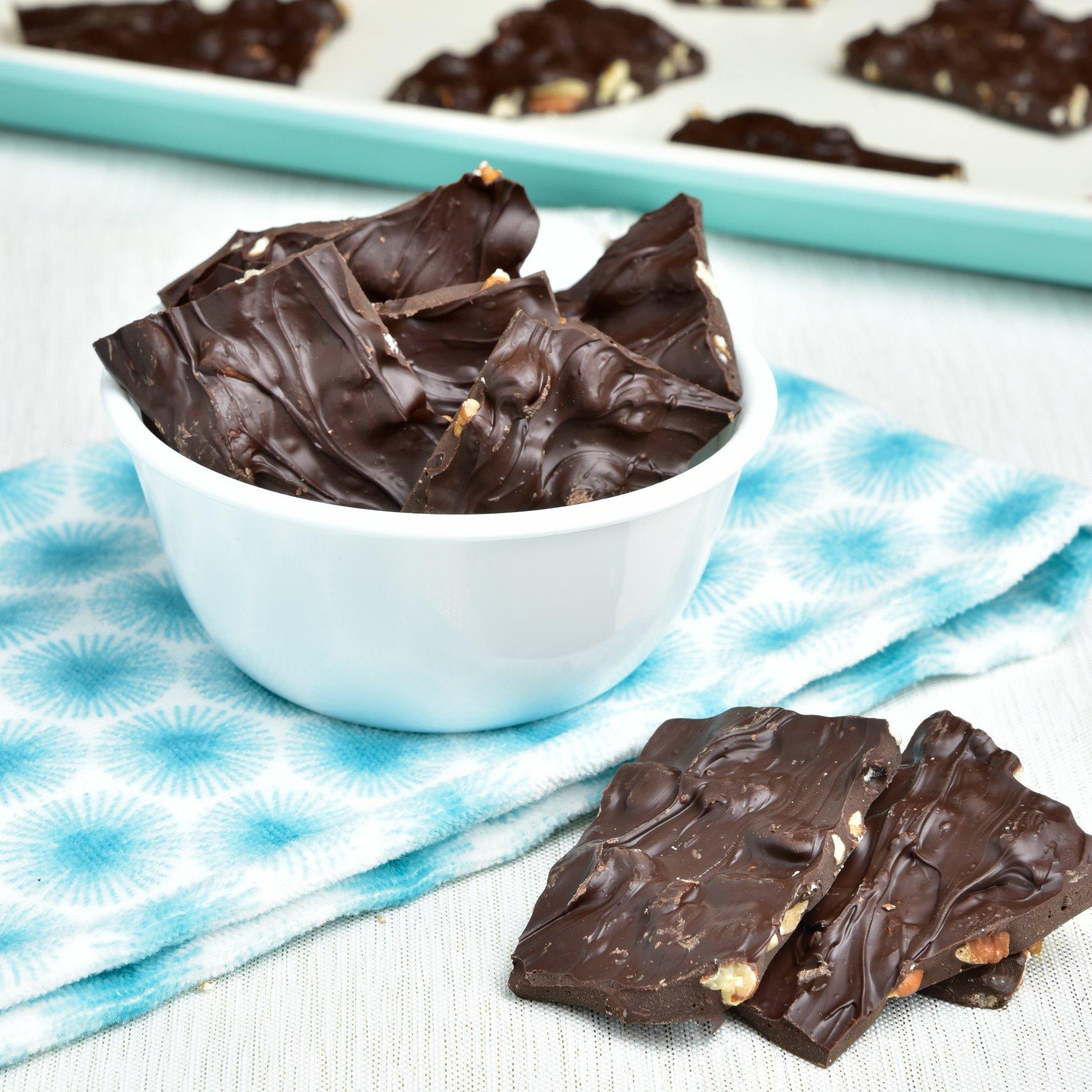 Dark Chocolate Bark Detailed