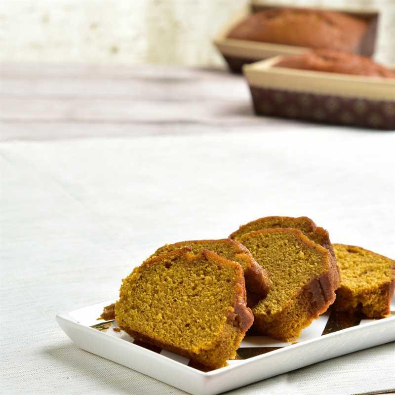 Fresh Baked Pumpkin Bread Detailed