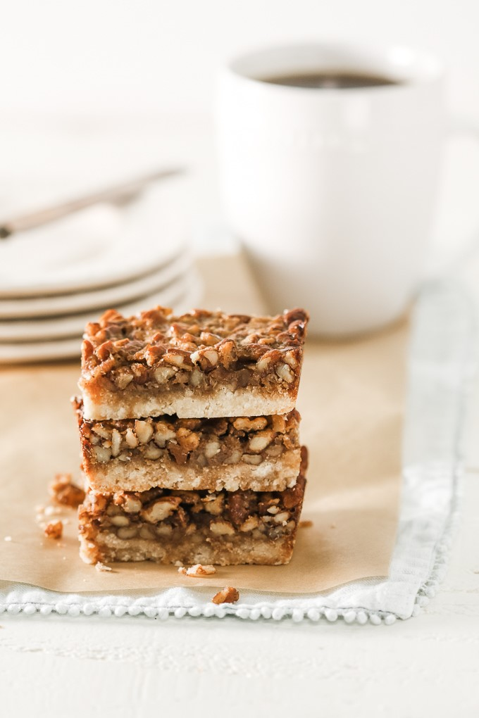 food blogger recipe pecan bars
