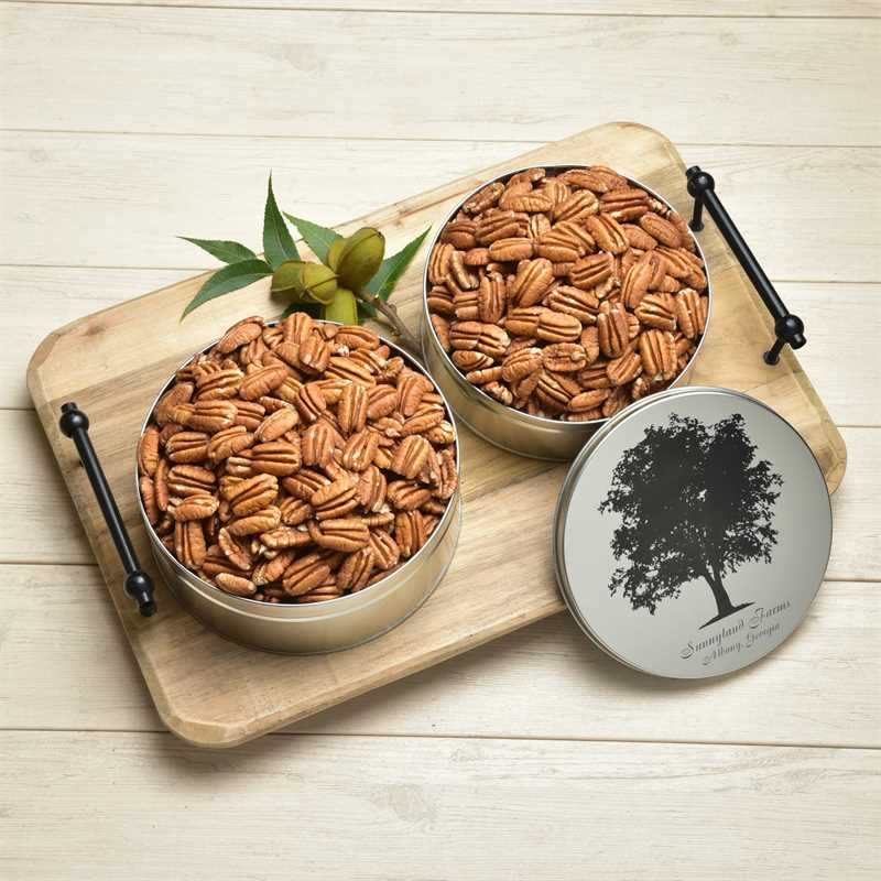 Raw Mammoth Pecan Halves Detailed