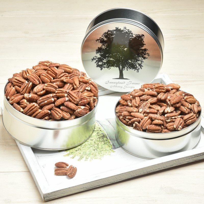 Toasted & Salted Mammoth Pecan Halves Gift Tin