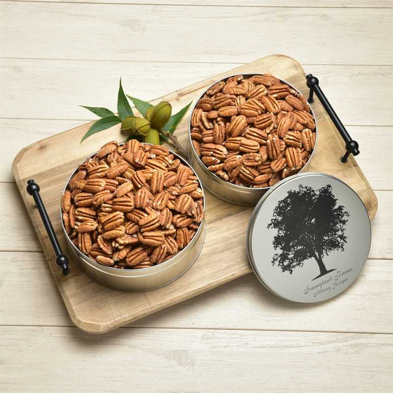 Raw Mammoth Pecan Halves Gift Tin